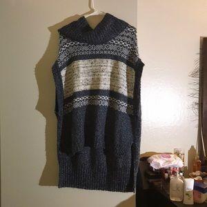 Knit poncho from BCBGMAXAZRIA
